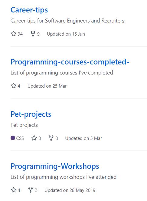 GitHub repositories