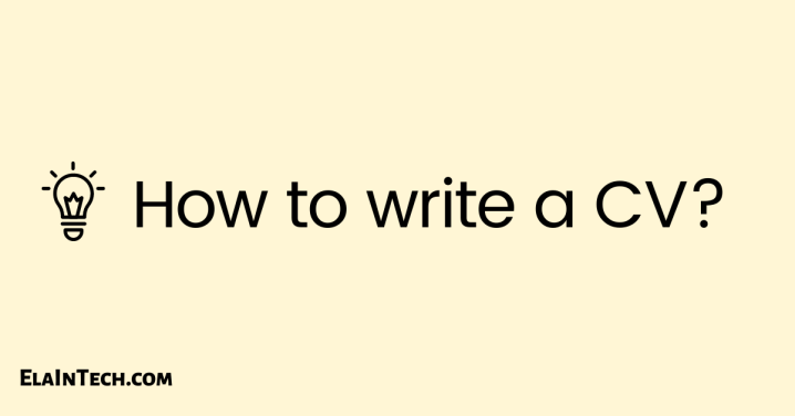 How to write aCV?