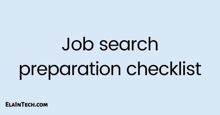 Job search preparationchecklist